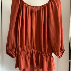 NWT JOIE Silk Peasant Top, Size M